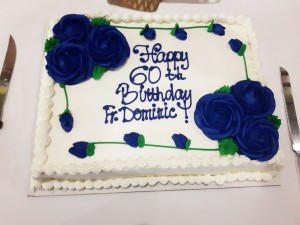 Fr. Dominic birthday cake