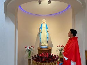 Mary and Fr. Eli